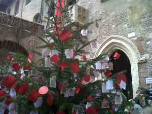 Verona Juliet balcony Christmas tree
